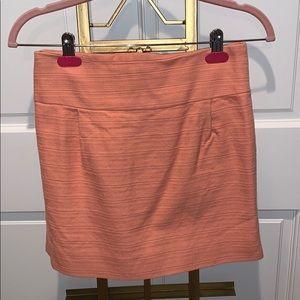 salmon mini skirt